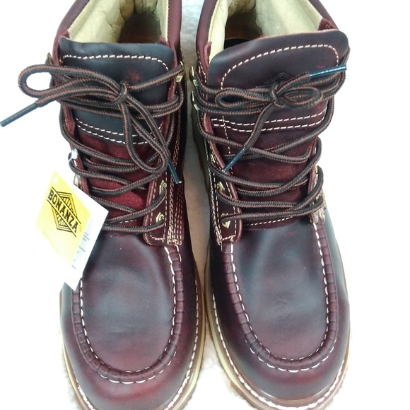 ed3cdb24640 Bonanza Boots Goodyear Mens12 Leather Welt Moc Toe NWT